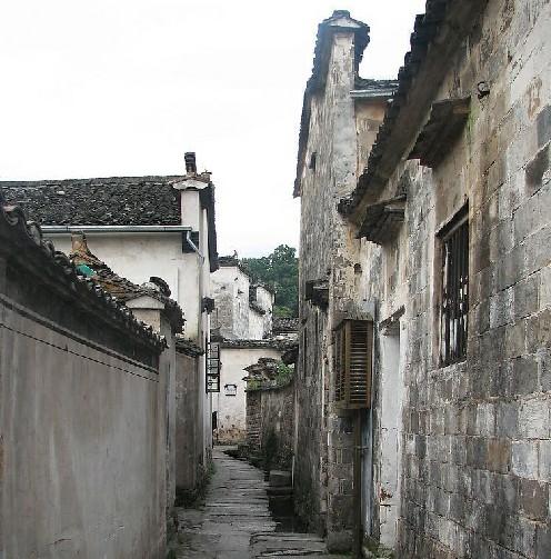 古代巷子唯美风景